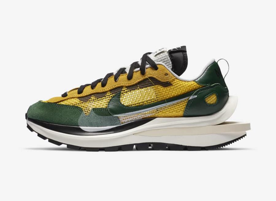 Nike x Sacai VaporWaffle Tour Yellow Gorge Green-Sail