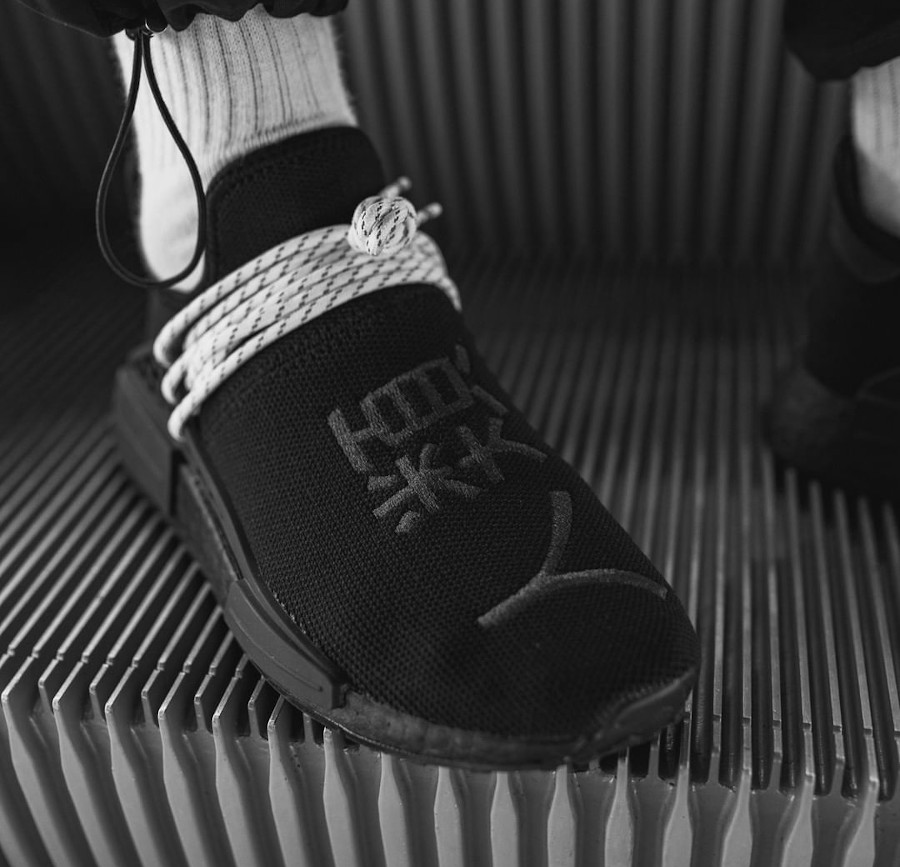 PW x Adidas NMD HU Black Chinese Human Race GY0093