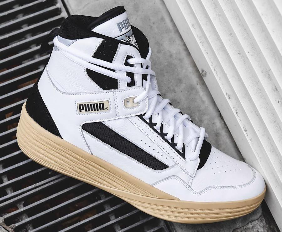 Puma Clyde All Pro Mid Kuz blanche et vintage (5)
