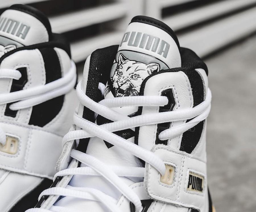 Puma Clyde All Pro Mid Kuz blanche et vintage (6)