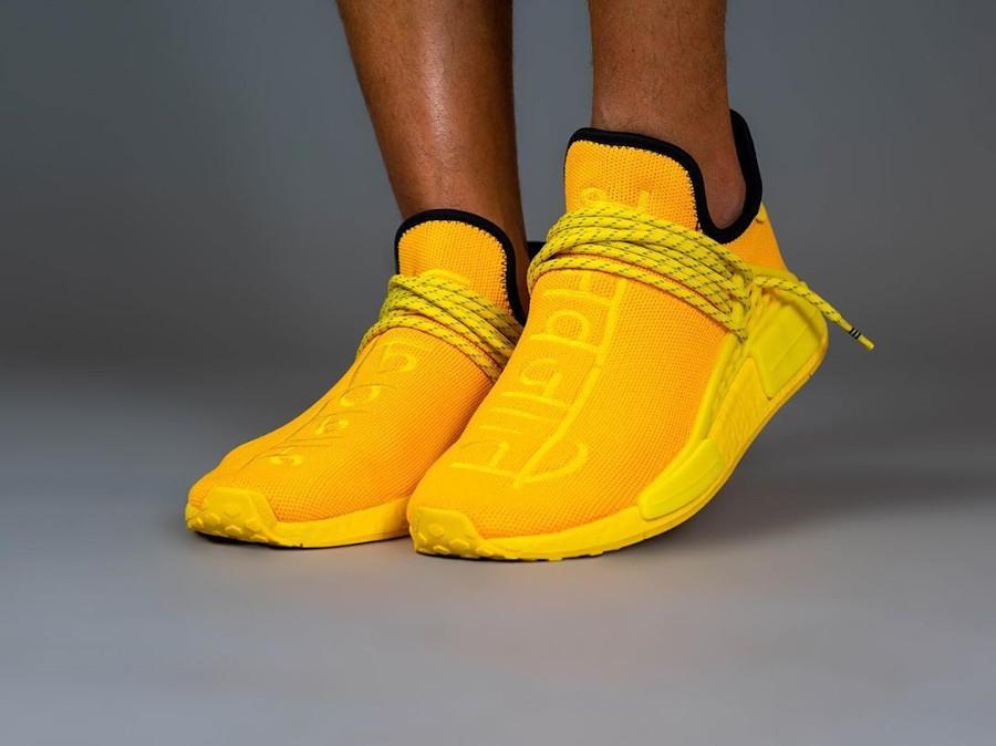 Pw x Adidas NMD Hu Pharrell Bold Gold Yellow GY0091