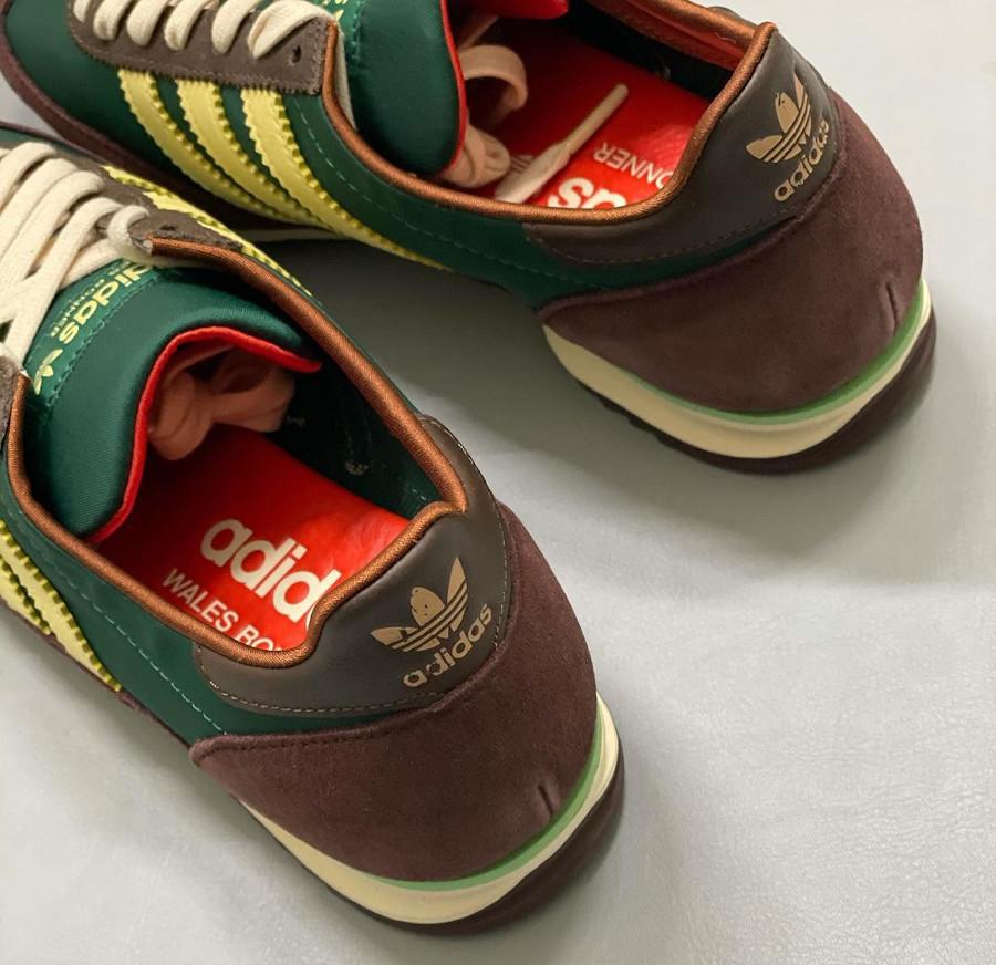 WB x Adidas SL72 en suède marron bordeaux (1)