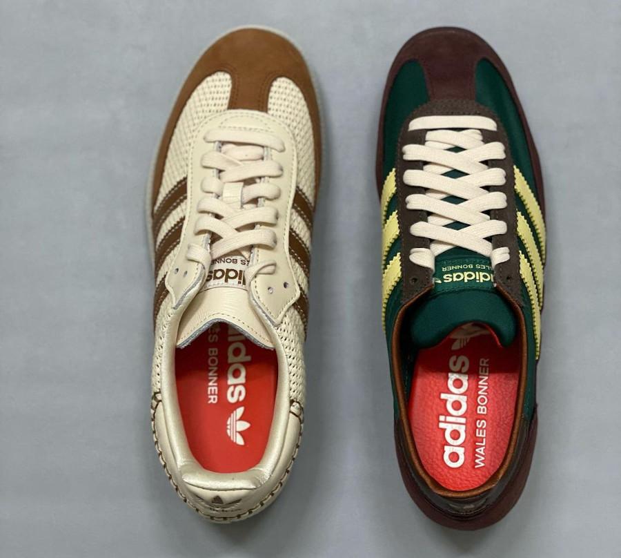 WB x Adidas SL72 en suède marron bordeaux (2)