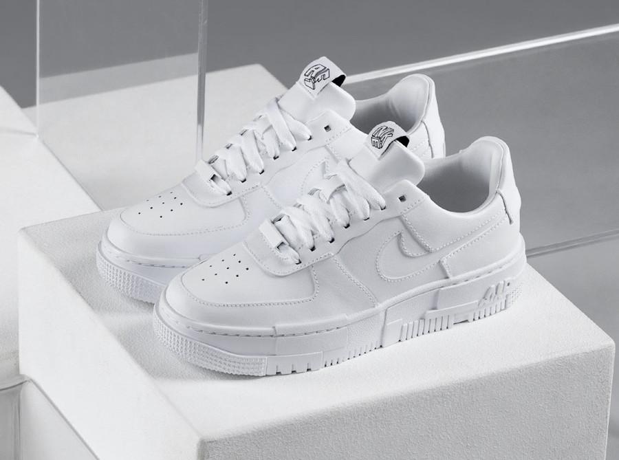 Women's Nike AF1 Pixcel blanche (8)