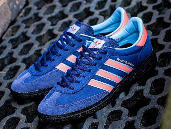 Adidas Manchester handball bleu et rouge (4)