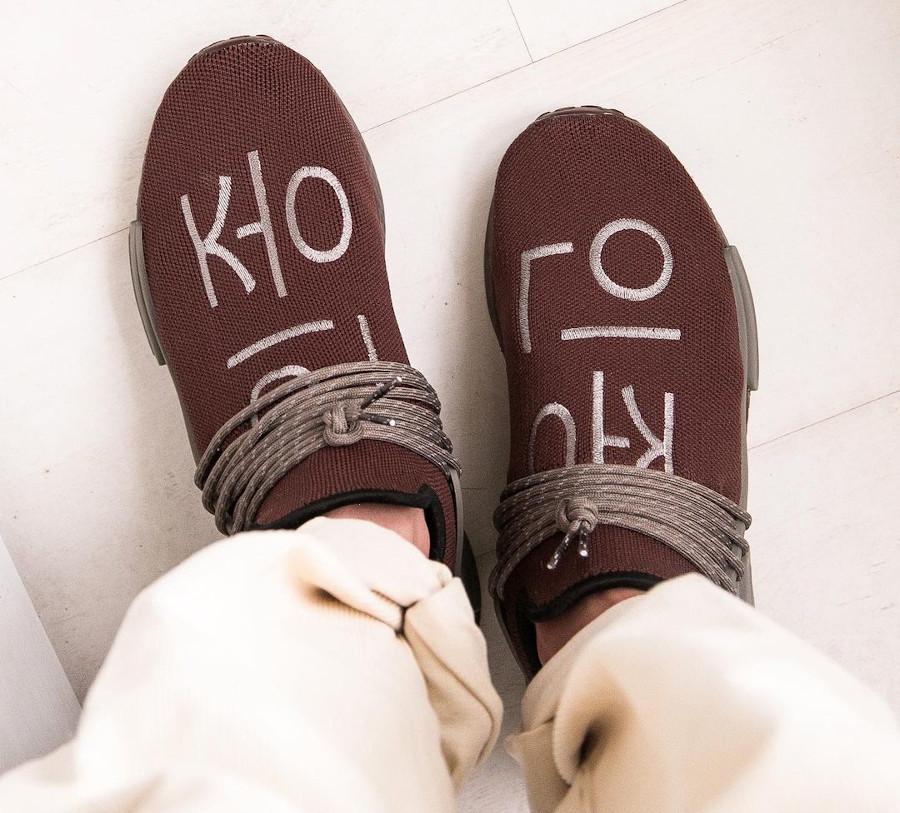 Adidas NMD HU PK marron (5)