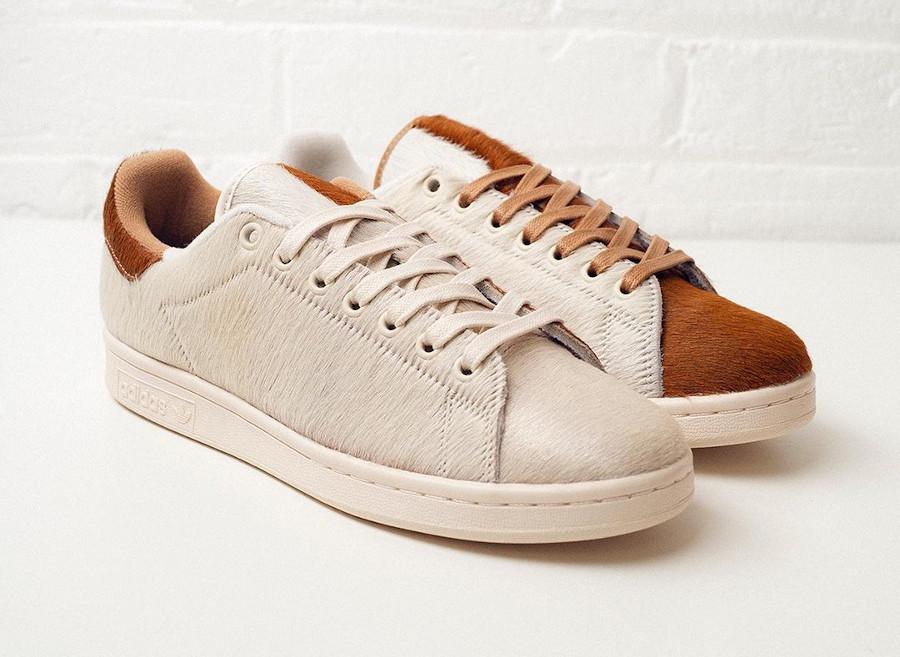 Adidas Stan Smith Mogwai fourrure marron blanche (2)