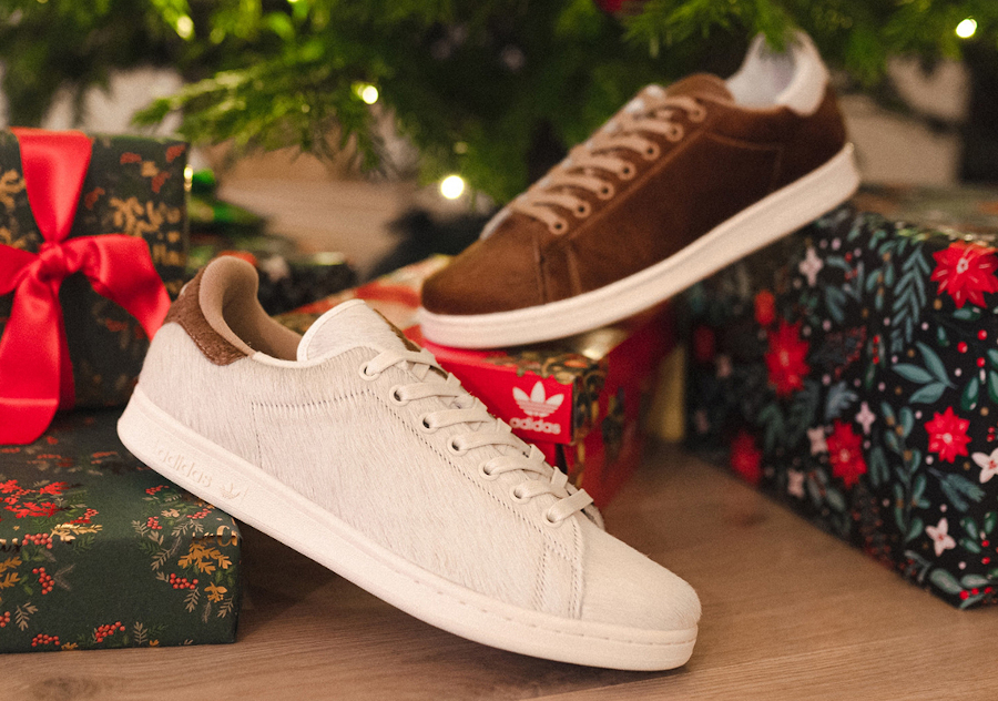 Adidas Stan Smith Mogwai fourrure marron blanche (4)