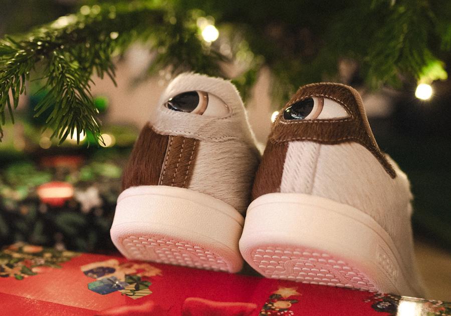 Adidas Stan Smith Mogwai fourrure marron blanche (6)