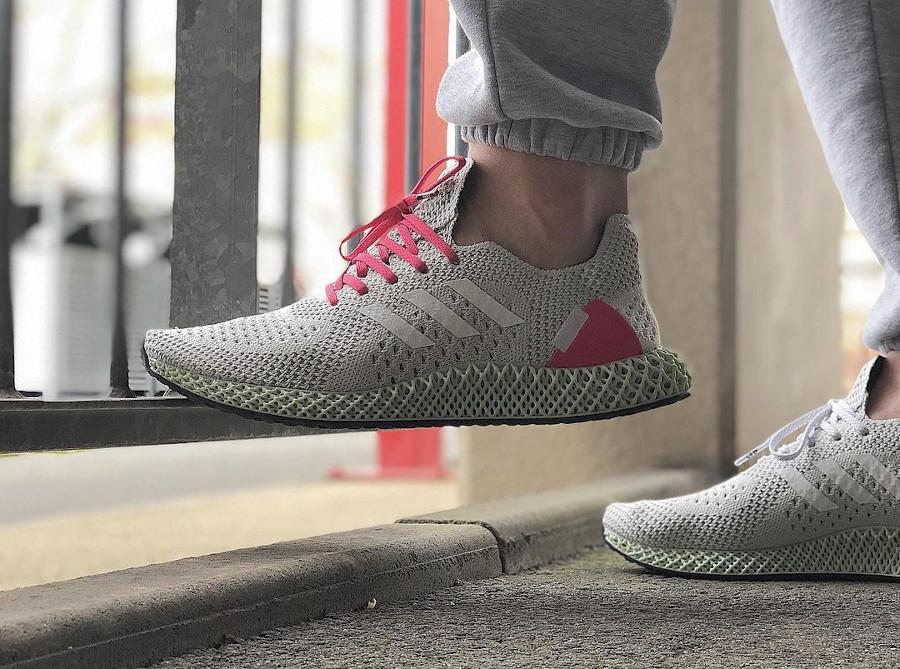 Adidas Ultra 4D Runner Energy Concepts grise et rose (1)
