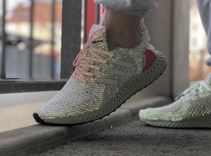 Adidas Ultra 4D Runner Energy Concepts grise et rose (2)