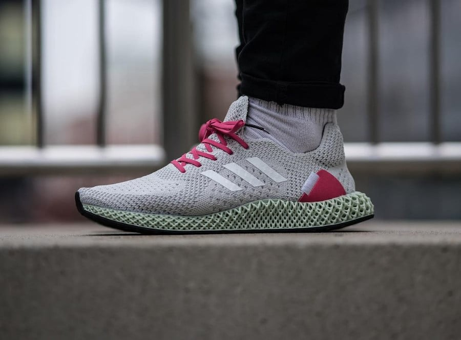 Adidas Ultra4D Runner AEC White Pink Reflective FY7916
