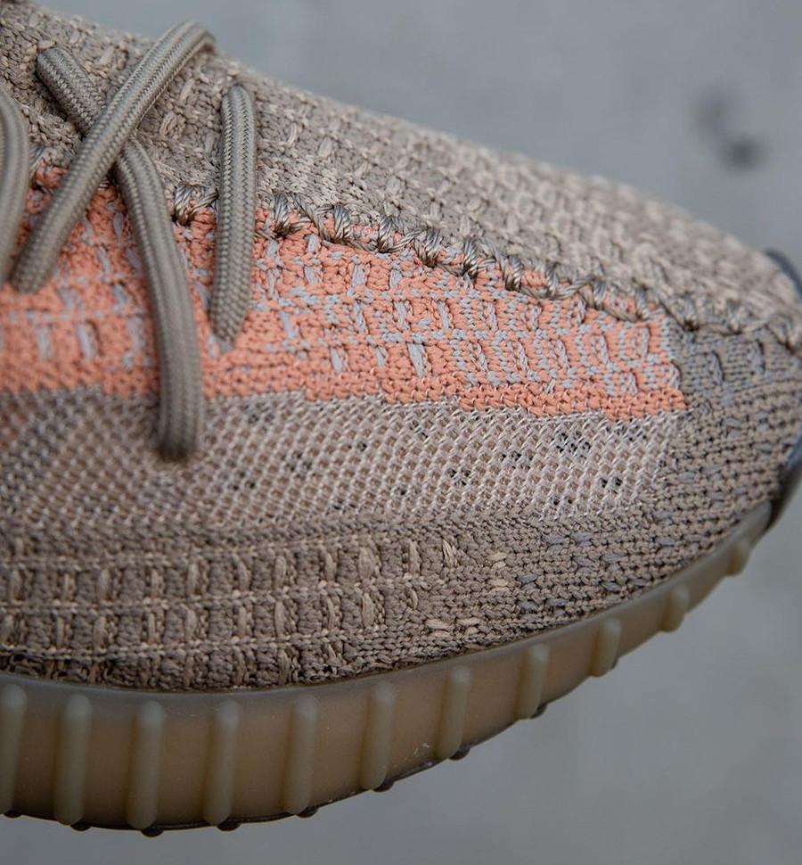 Adidas Yezzi 350 Boost beige marron et orange (4)