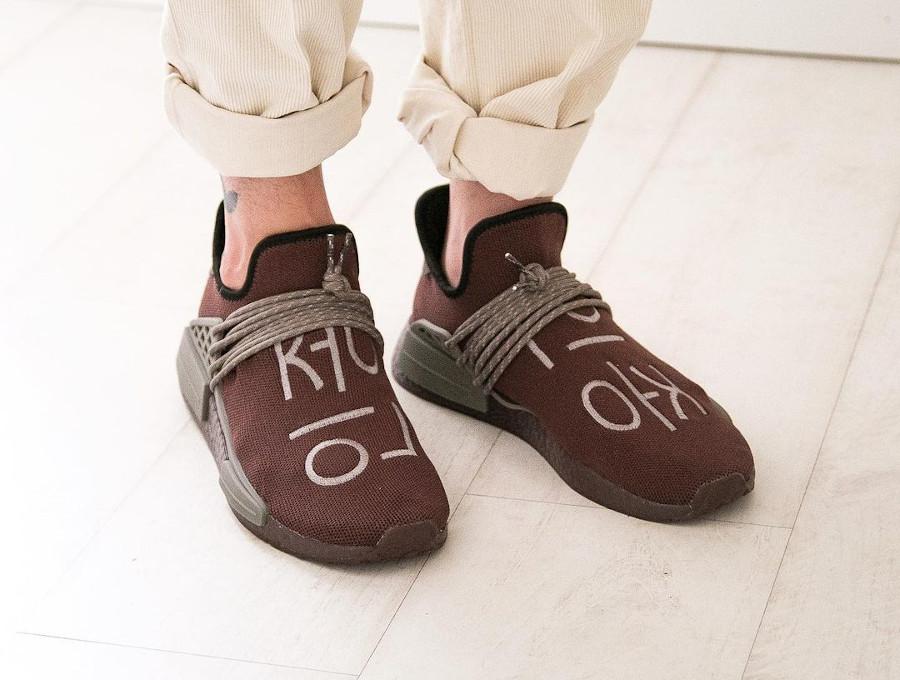 Adidas x PW NMD Human Race Auburn Chocolate GY0090