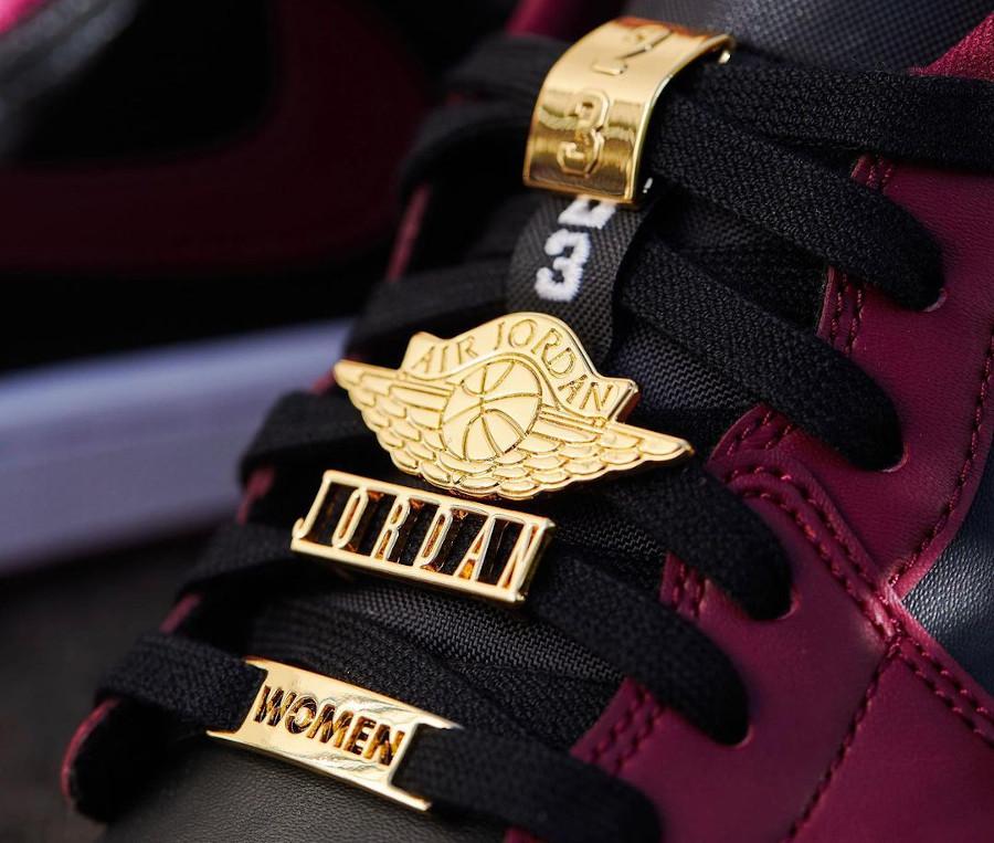 Air Jordan 1 Low bijoux noire et bordeaux DB6491-600 (3)