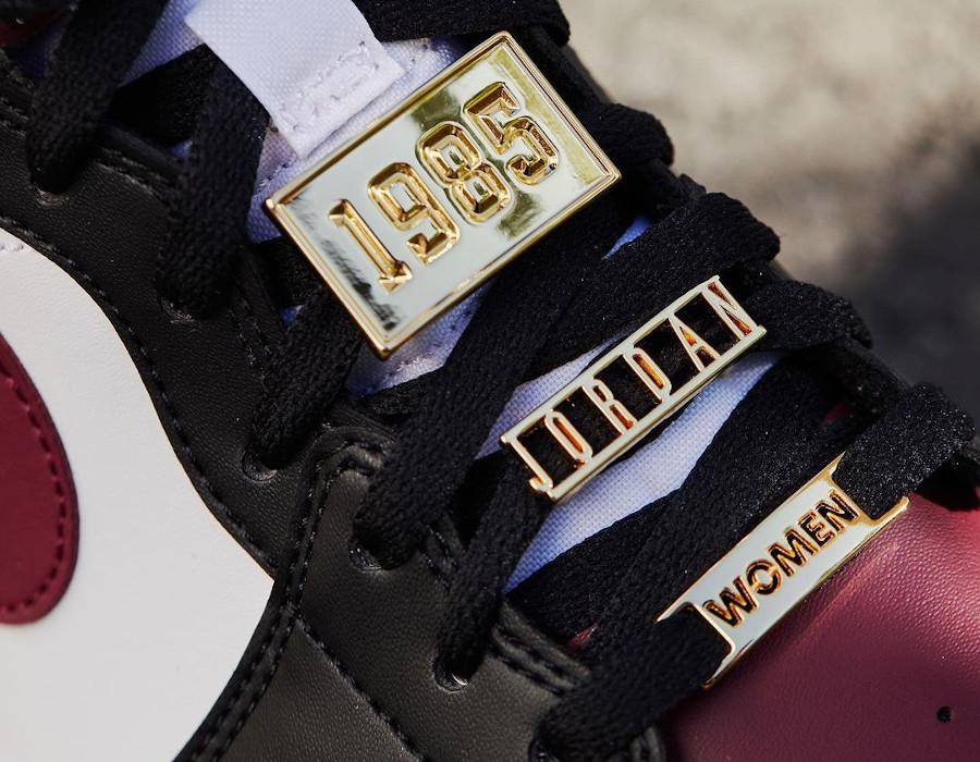 Air Jordan 1 Mid bijoux noire et bordeaux CZ4385-016 (1)