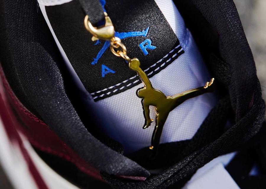 Air Jordan 1 Mid bijoux noire et bordeaux CZ4385-016 (3)