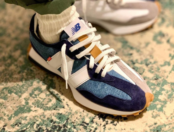 New Balance x Levi's MS327LVA Navy White Denim
