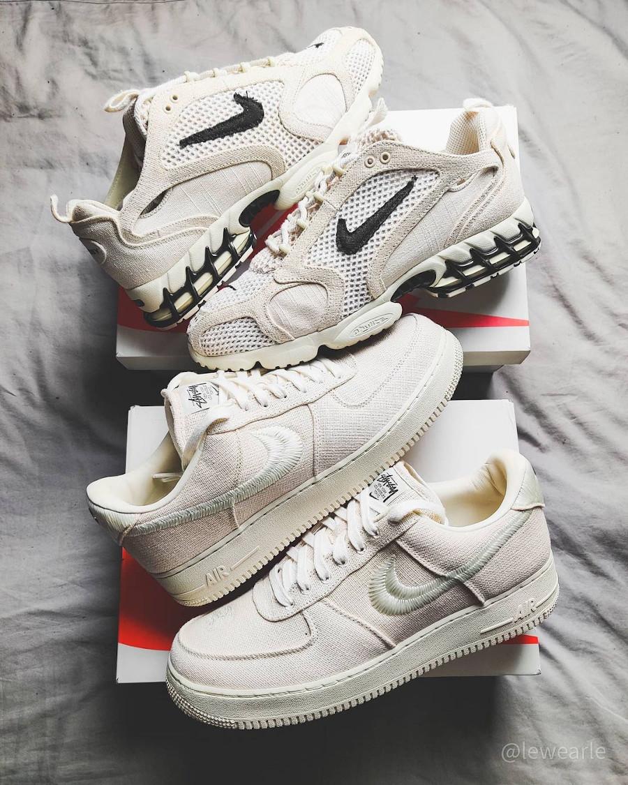 Nike AF1 en chanvre beige (1)