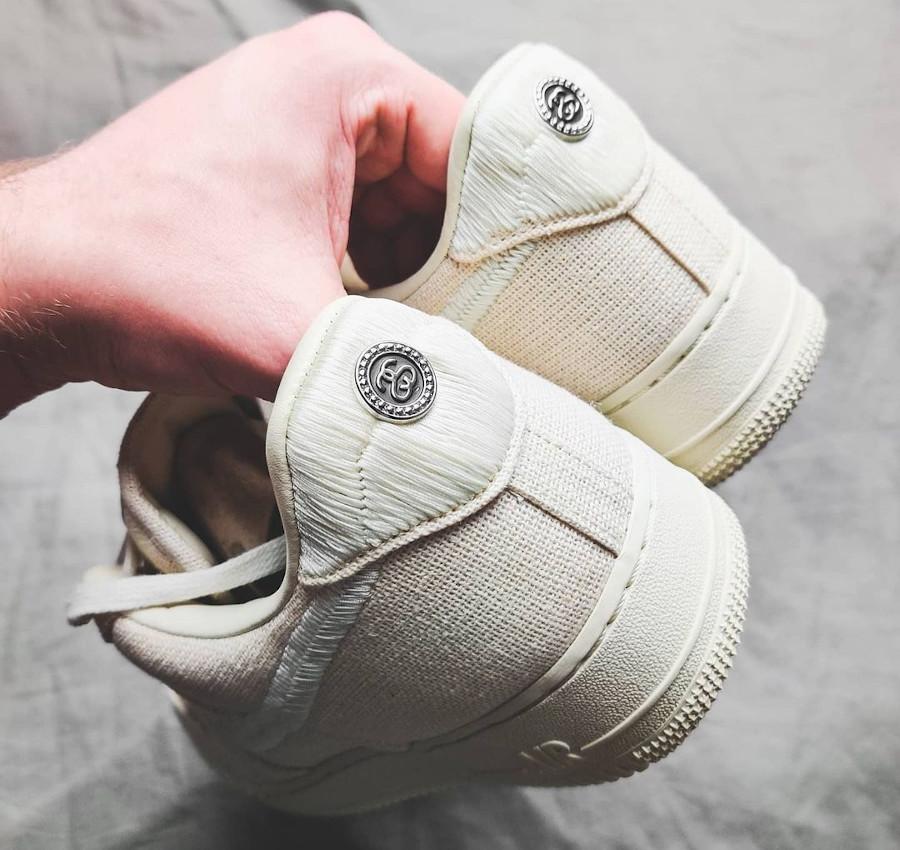 Nike AF1 en chanvre beige (2)