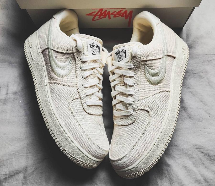 Nike AF1 en chanvre beige (4)