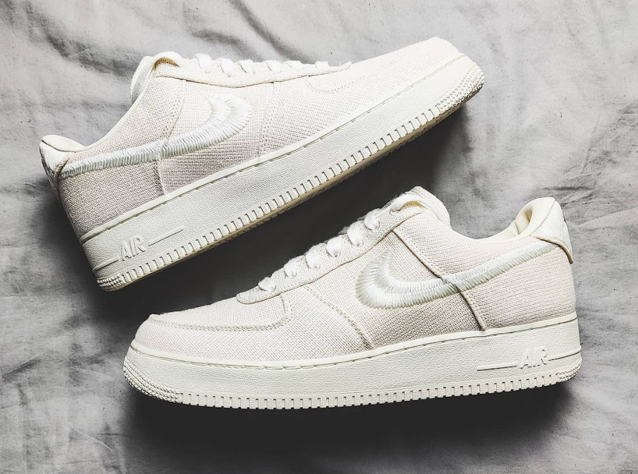 Nike AF1 en chanvre beige (5)
