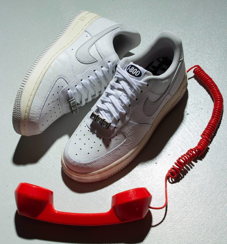 Nike Air Force 1 AF1 '07 PRM 1-800 Toll Free CJ1631 100