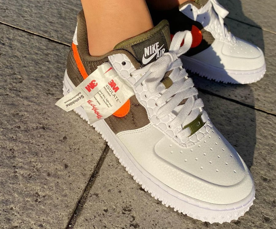 Nike Air Force 1 By You réfléchissante chiharu (2)