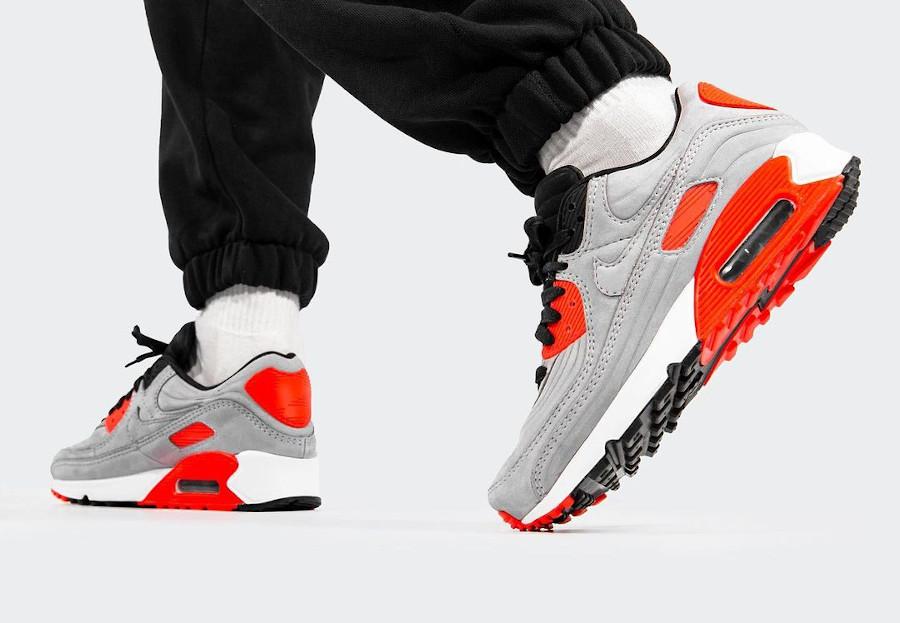 Nike Air Max 3 LX matelassée grise et rouge (1)