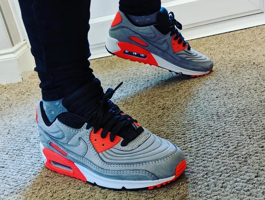 Nike Air Max 3 LX matelassée grise et rouge (2)