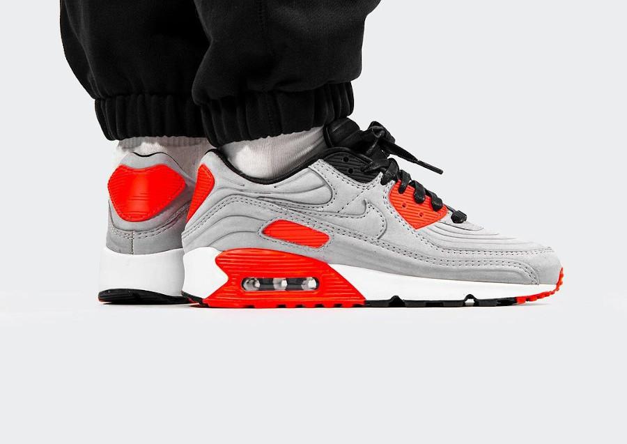 Nike Air Max 3 LX matelassée grise et rouge (4)