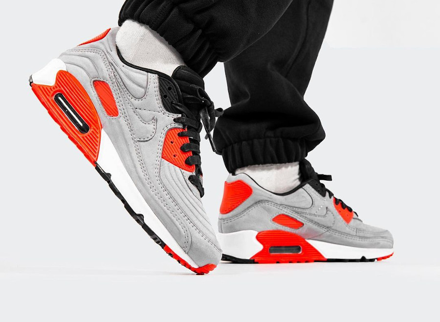 Nike Air Max 3 LX matelassée grise et rouge (5)