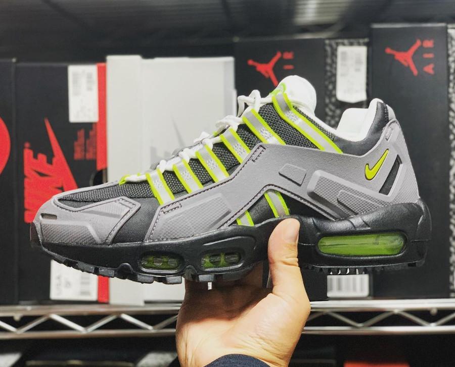 Nike Air Max 95 Indestructible grise noire et jaune fluo (5)
