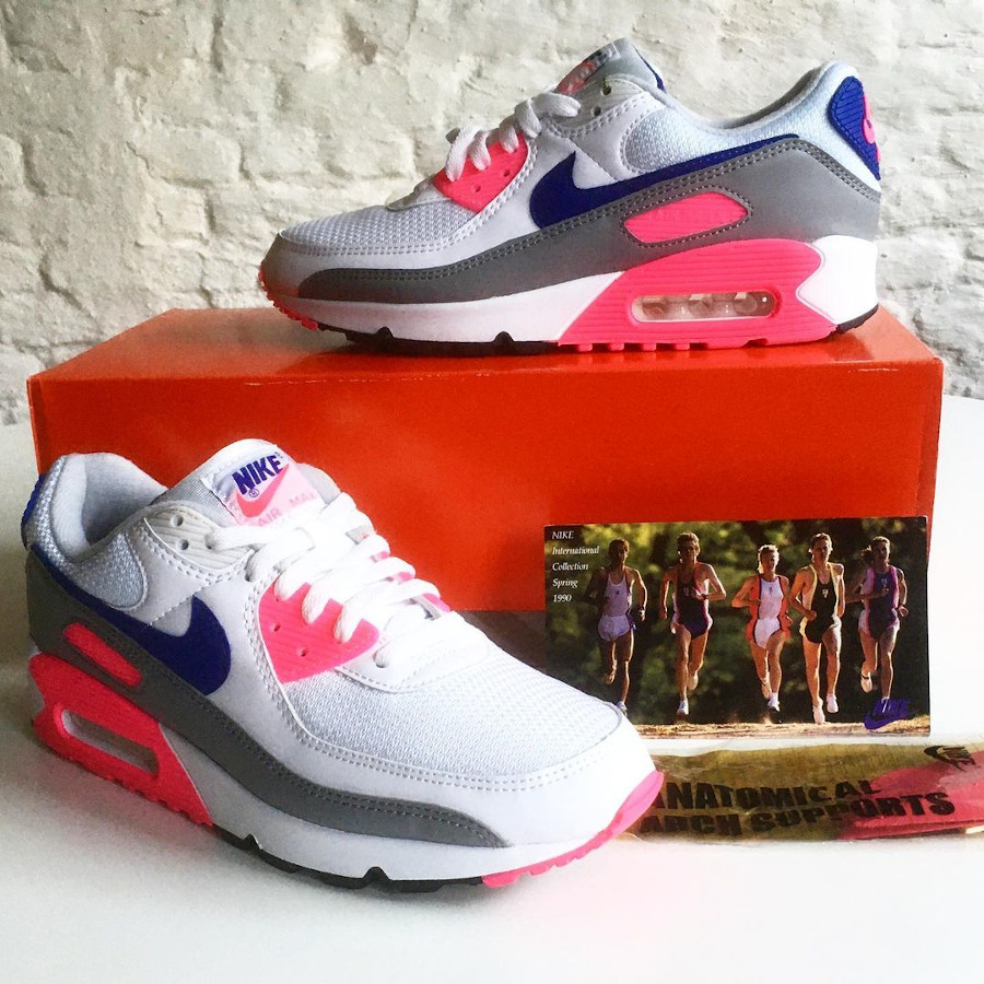 Nike Air Max III Originale blanche grise et rose (1)