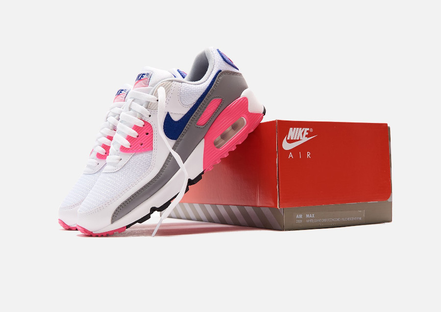 Nike Air Max III Originale blanche grise et rose (2)