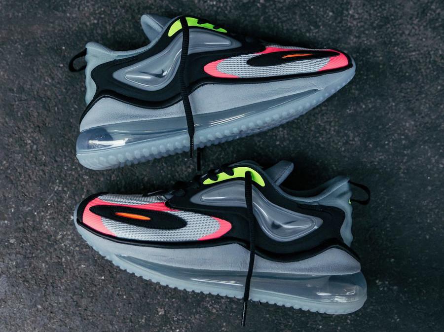 Nike Air Max Zephyr grise rose et vert fluo (4)