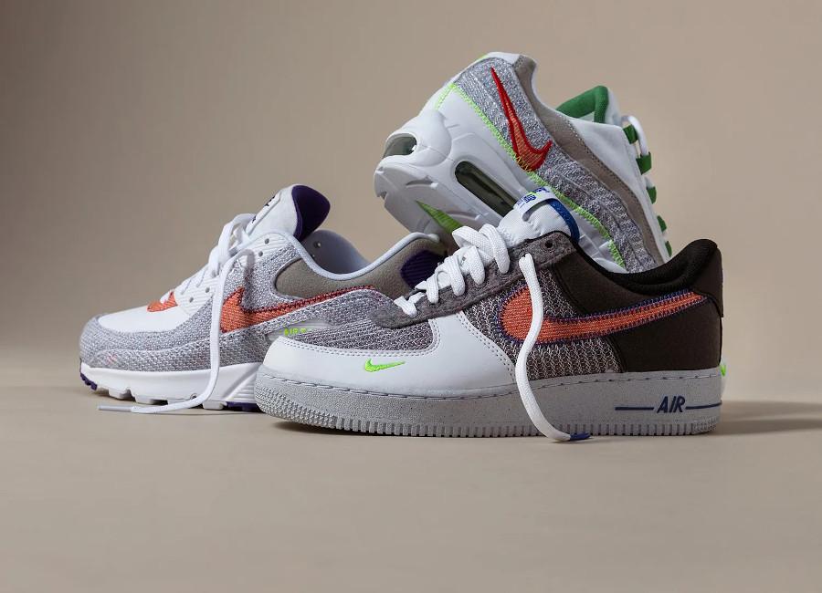 Nike Air One en laine recyclée gris (1)