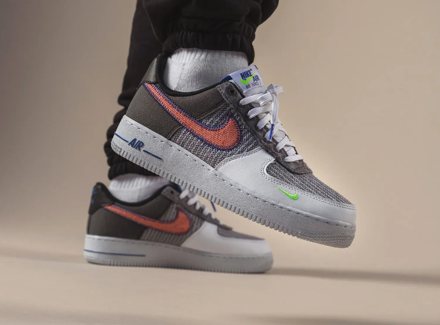 Nike Air Force One en laine recyclée gris (2)