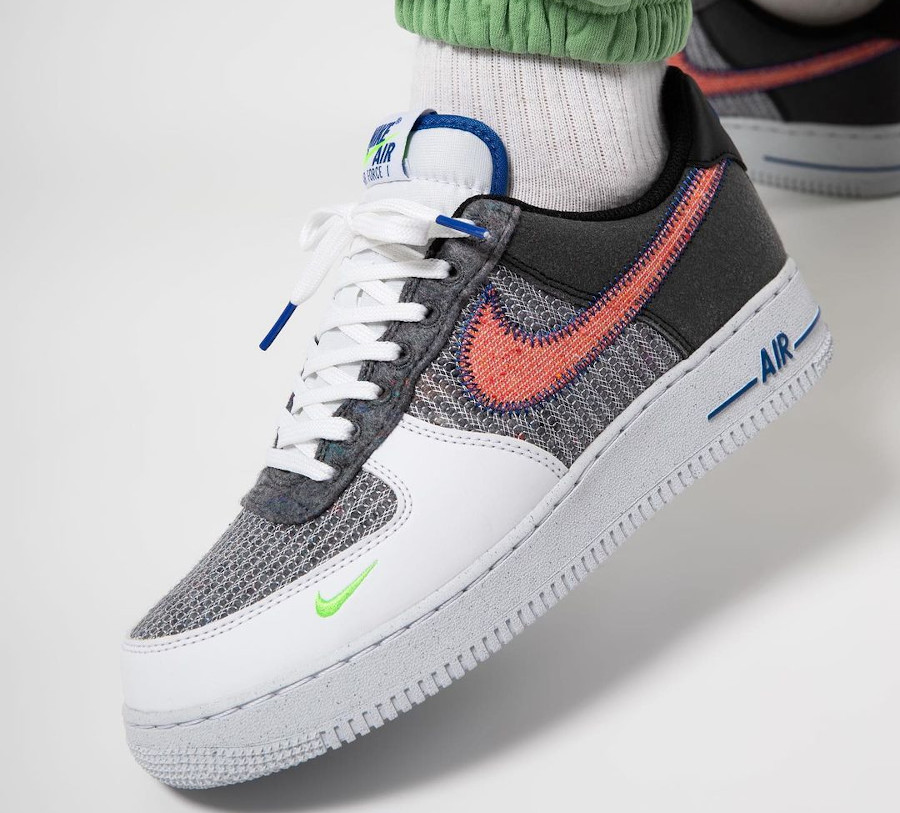 Nike Air Force One en laine recyclée gris (4)