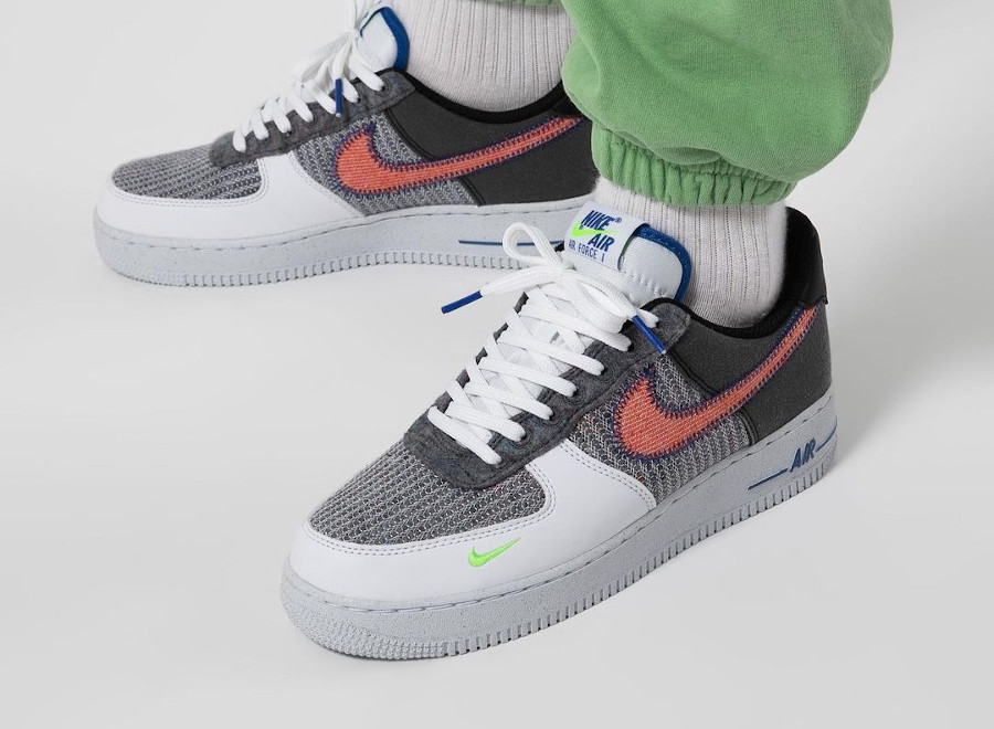 Nike Air Force One en laine recyclée gris (5)