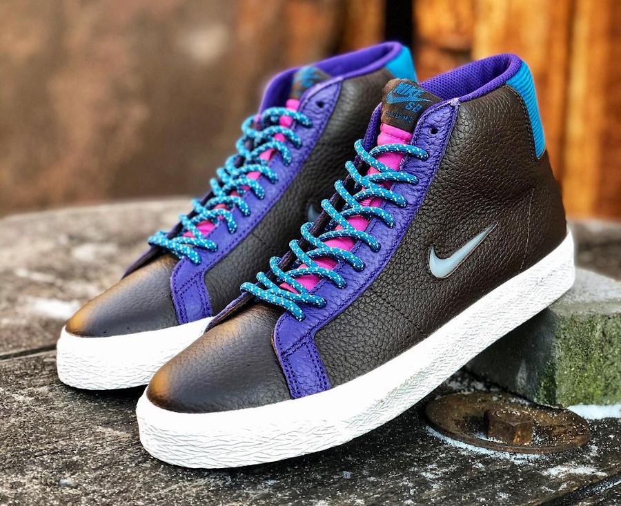 Nike Blazer Mid SB maroon et violet (1)