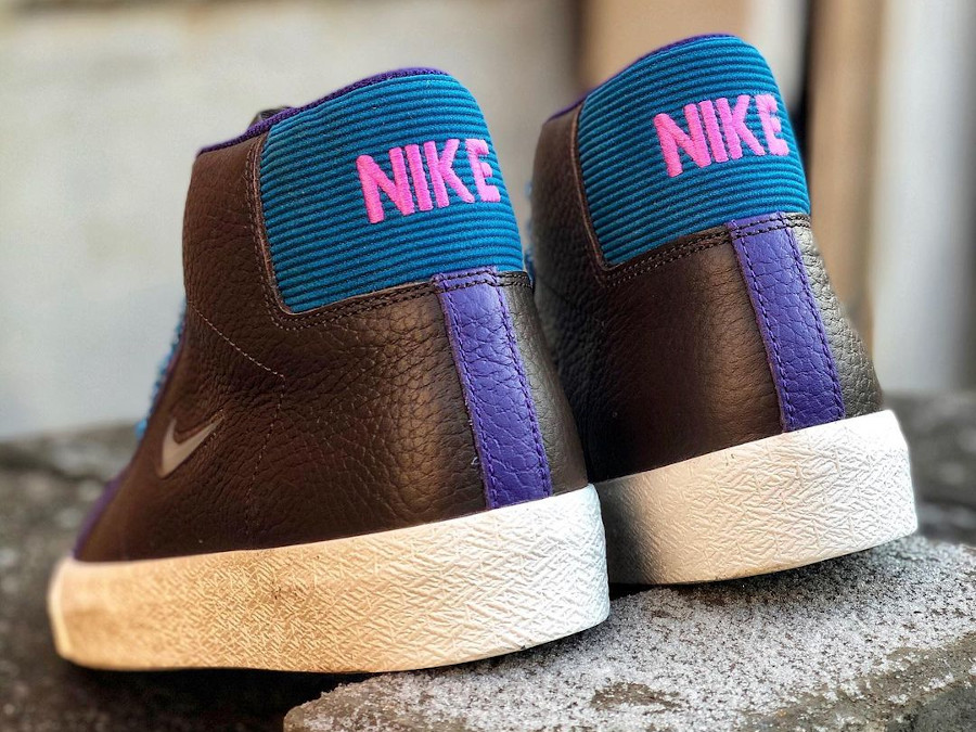 Nike Blazer Mid SB maroon et violet (2)