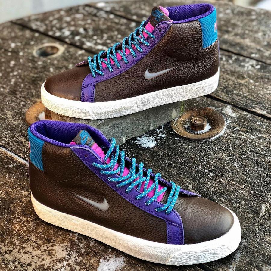 Nike Blazer Mid SB maroon et violet (3)