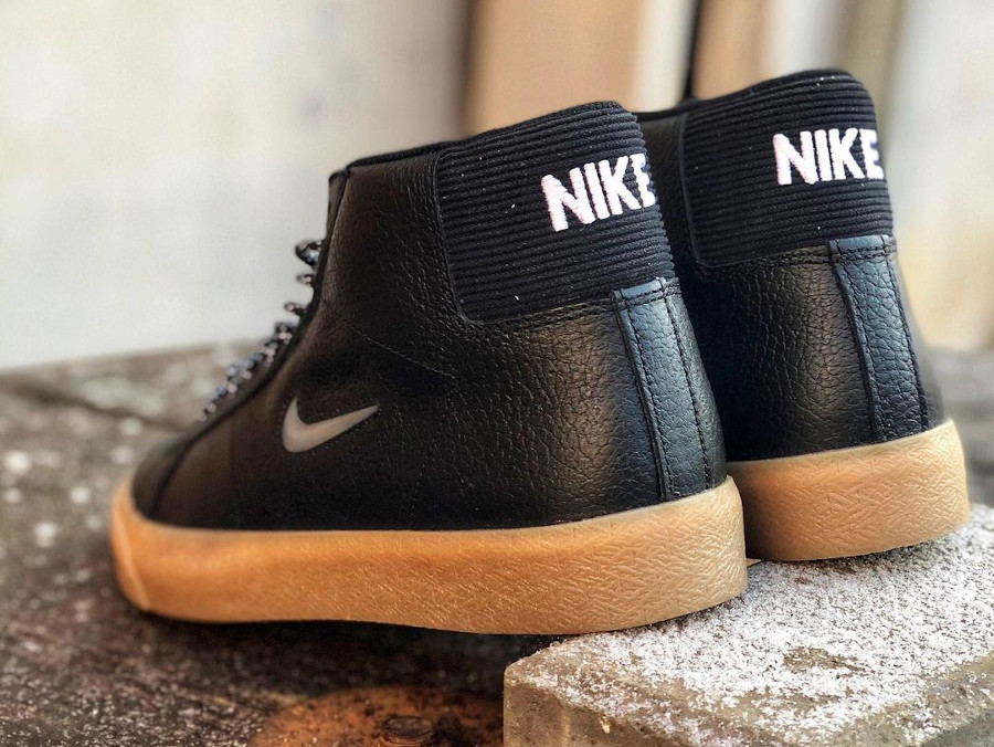 Nike Blazer Mid SB noire et gomme (2)