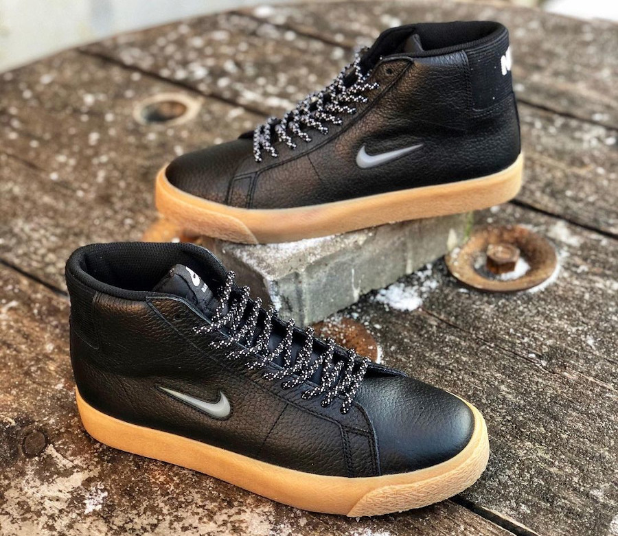 Nike Blazer Mid SB noire et gomme (3)