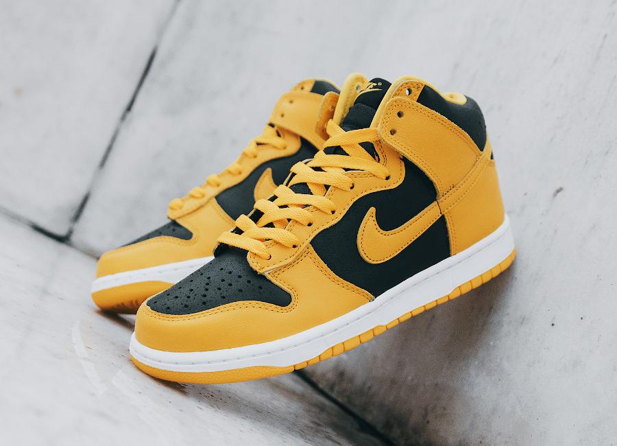 Nike Dunk Hi jaune et noire 2020 (2)