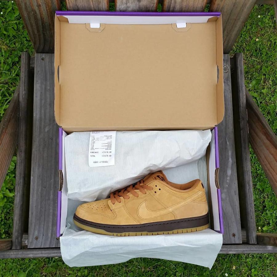 Nike Dunk Low Pro SB 2020 en daim marron (1)