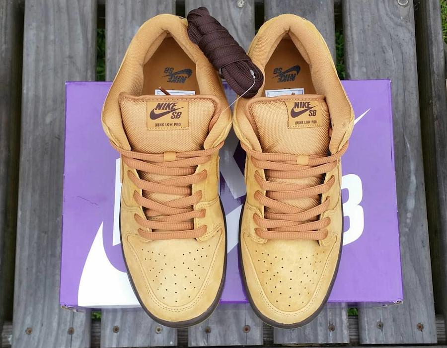 Nike Dunk Low Pro SB 2020 en daim marron (2)