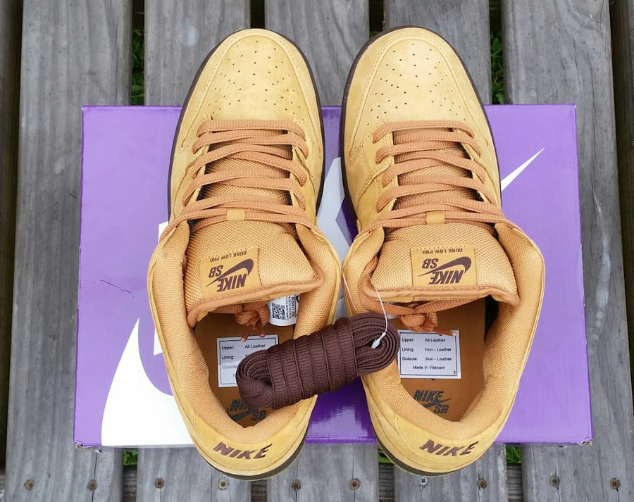 Nike Dunk Low Pro SB 2020 en daim marron (5)
