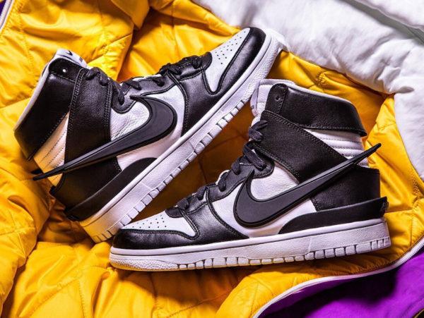 Nike Dunk hi déstructurée blanche et noire (4)